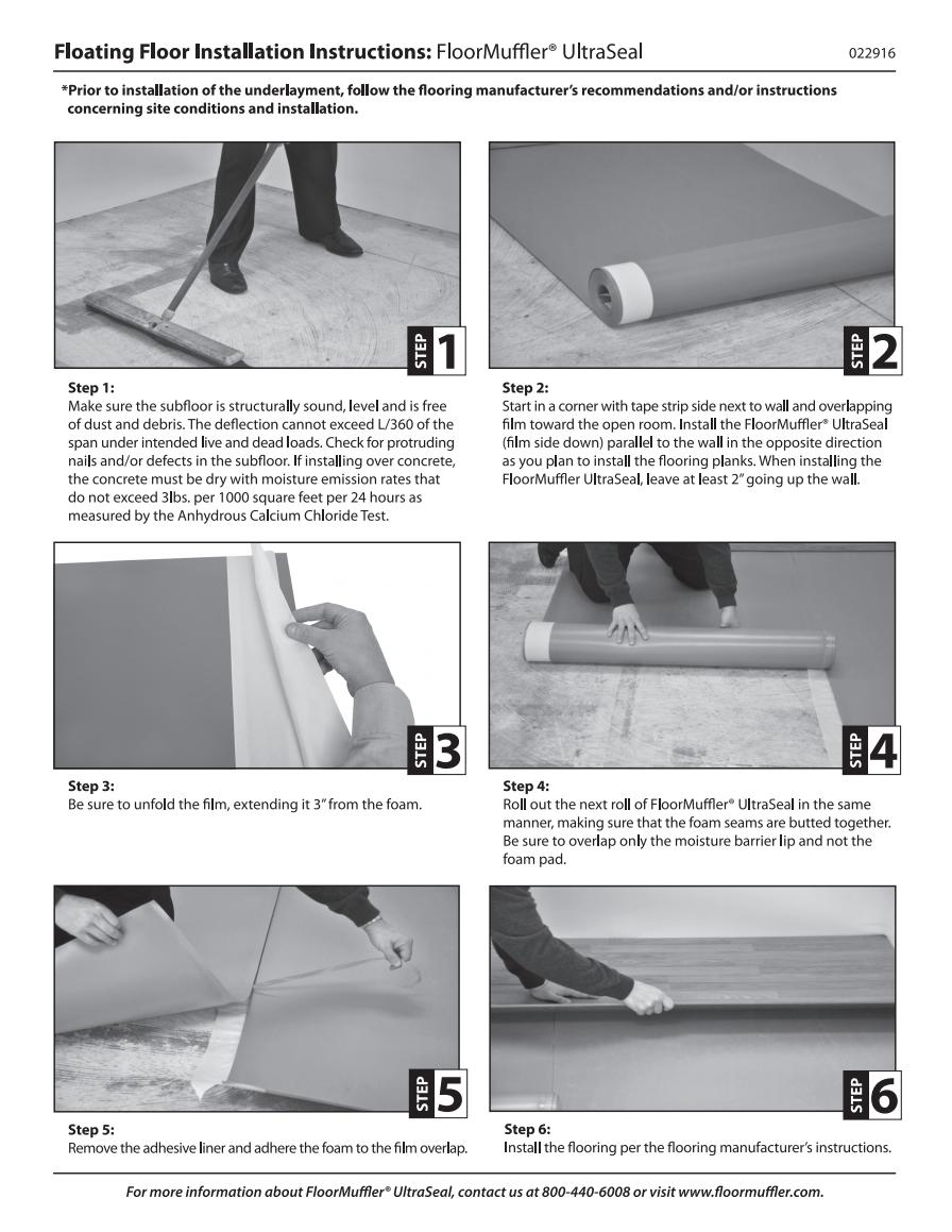 FloorMuffler Premium Underlayment Installation Guide