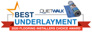 Best underlayment - 2020 Flooring Installers Choice Award