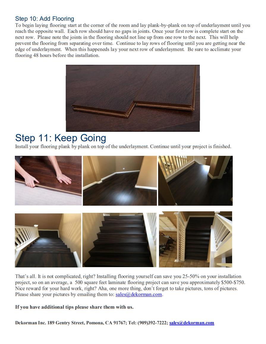 Dekorman Blue Foam Underlayment Installation Guide 4
