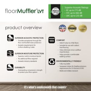 FloorMuffler Luxury Vinyl Underlayment Product Overview