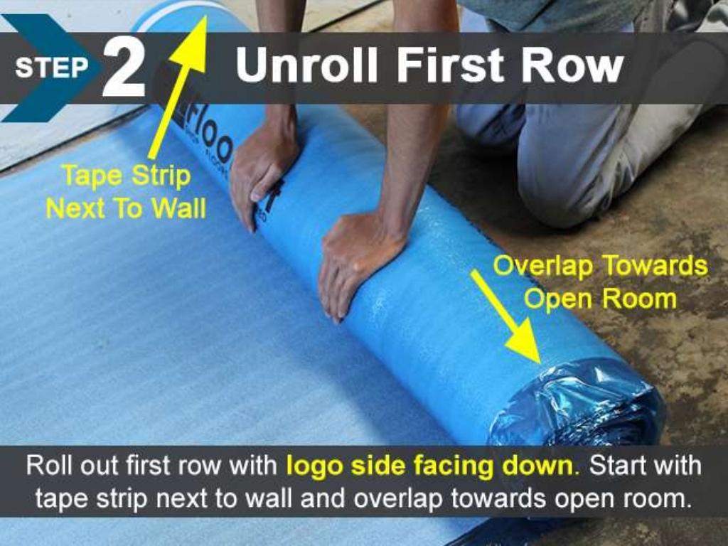 FloorLot Blue 3in1 Vapor Barrier Underlayment Installation Guide 5