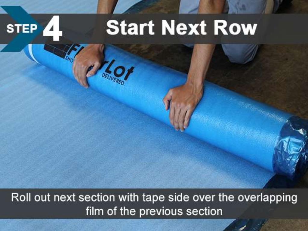 FloorLot Blue 3in1 Vapor Barrier Underlayment Installation Guide 7