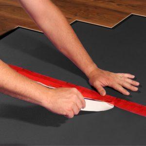Natural LVT SG Foam Underlayment Install