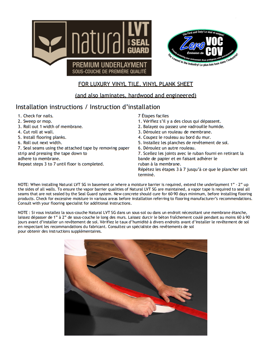 Natural LVT SG Premium Underlayment Installation Guide