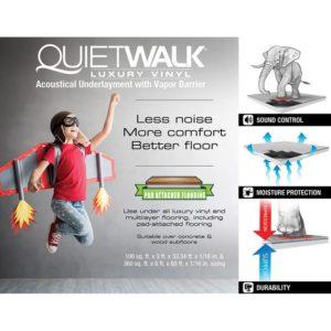 QuietWalk Luxury Vinyl Underlayment Infographic