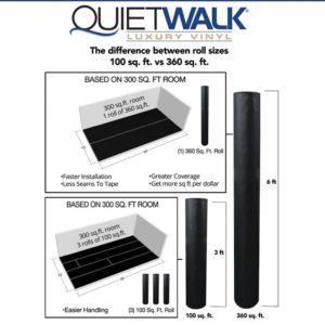 QuietWalk Luxury Vinyl Underlayment Roll Sizes