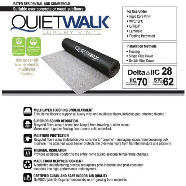 QuietWalk Luxury Vinyl Underlayment Specs