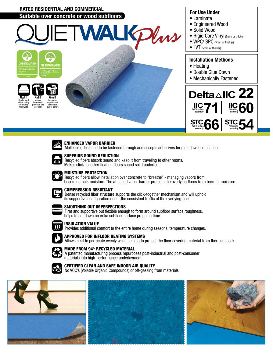 QuietWalk Plus Underlayment Product Brochure