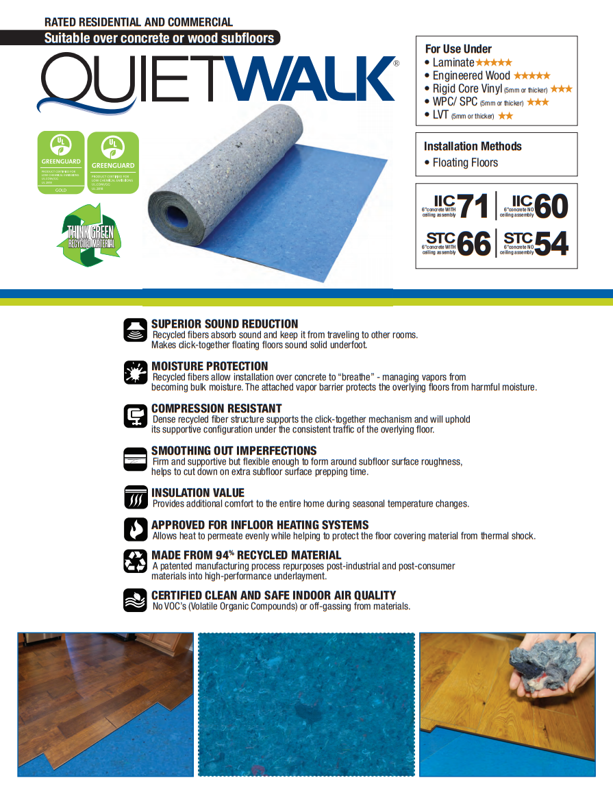 QuietWalk Product Brochure