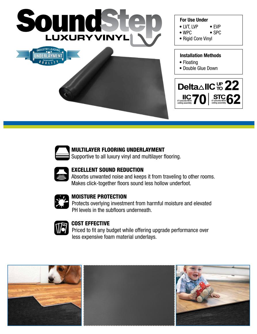 SoundStep Luxury Vinyl Underlayment Installation Guide